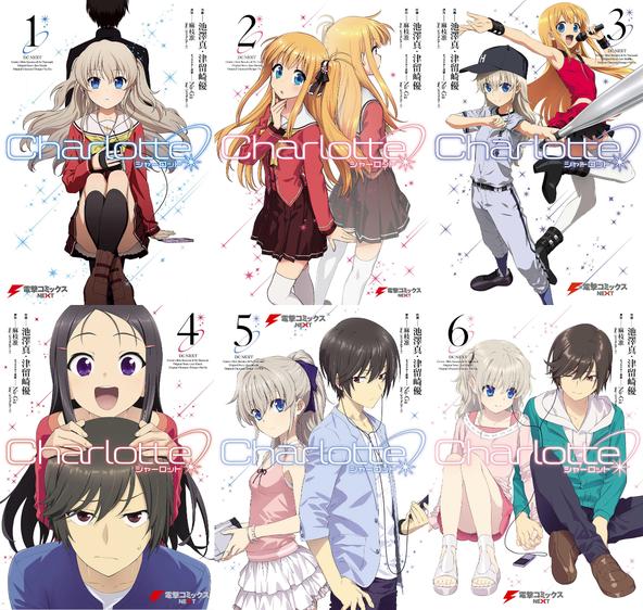 Charlotte Manga Covers