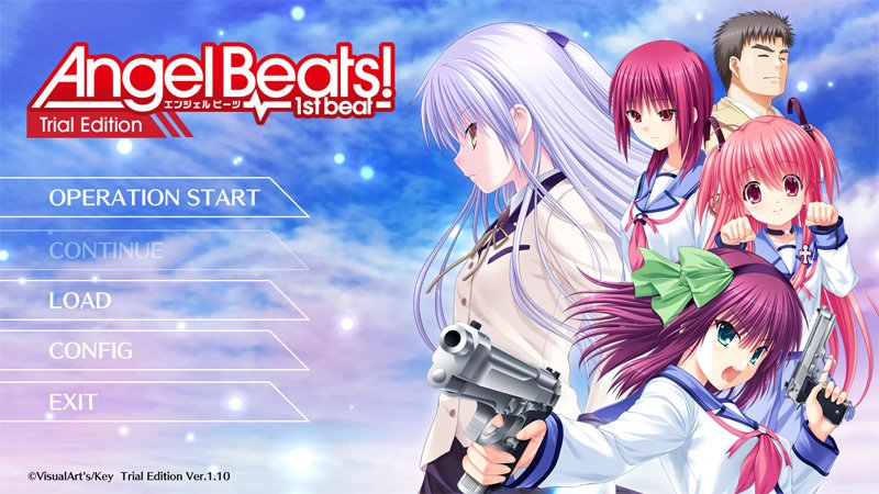 Angel Beats 1st Beat Trial Edition Released Online